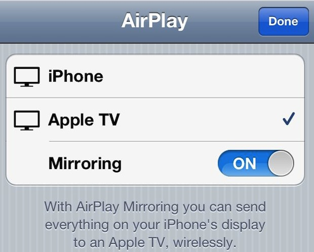 iOS Airplay Mirroring