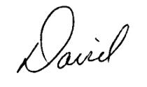 David Bennett Signature