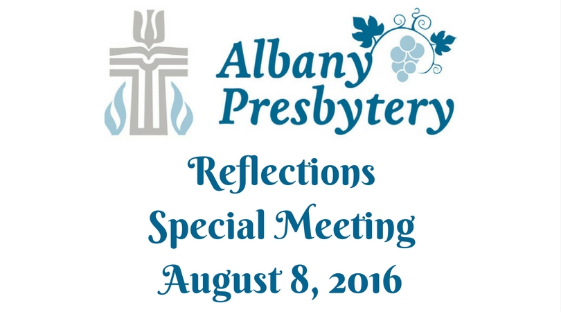 Special Meeting Albany Pres Reflections FB