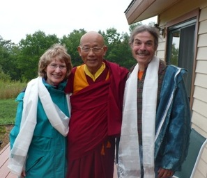 alice and larry mcdowell with Khensur-Rinpoche