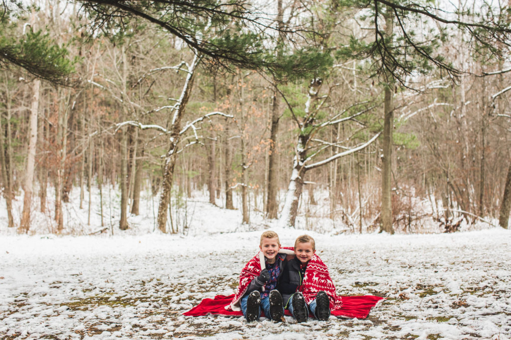 Rockford, Michigan Family Portraits at Townsend Park: Ethan + Zack