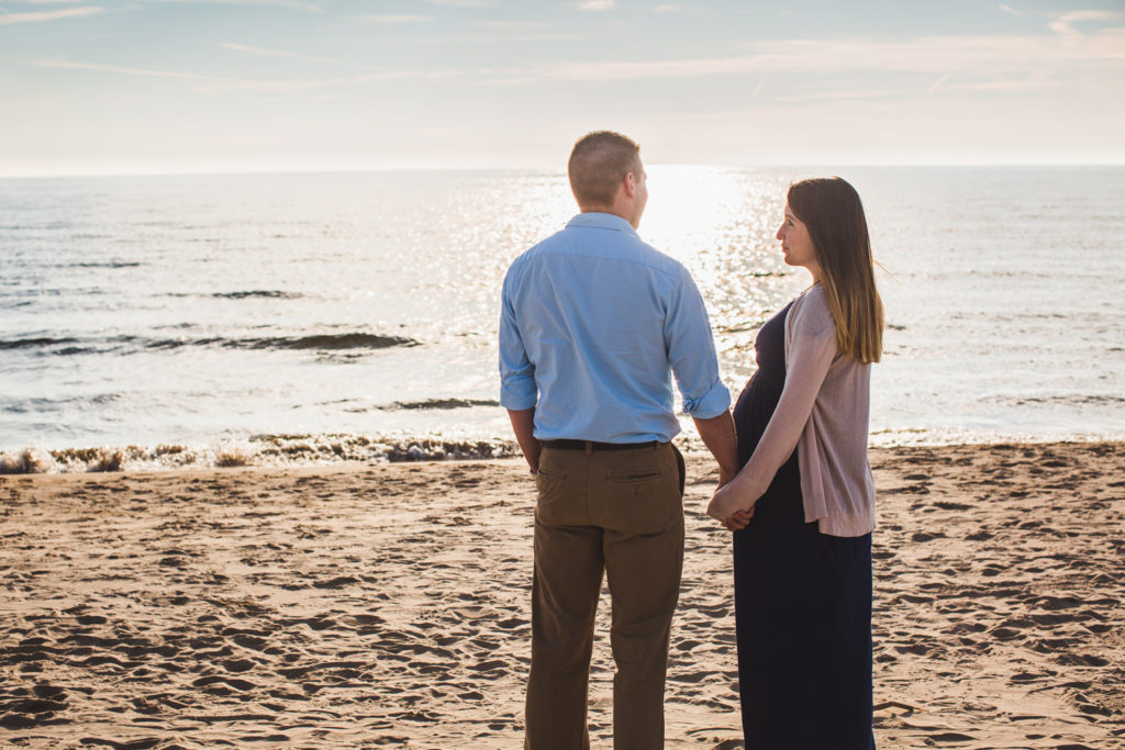 Grand Haven, Michigan Maternity Portraits: Katie + Joe