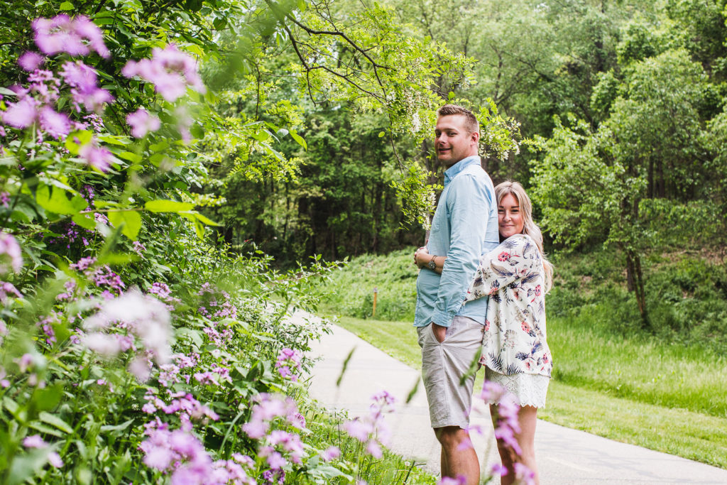 Milford, Michigan Engagement at Kensington Metropark: Crystal + Derek