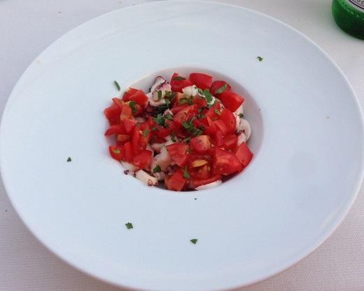 Dama bianci octopus salad vinous