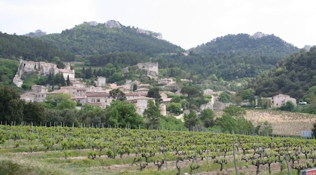 The village of gigondas nestled into the hills of provence for introjpg