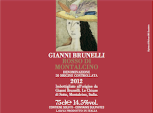 2012 Gianni Brunelli Rosso di Montalcino ($30.00) 90 points