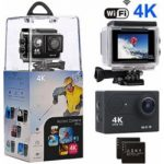 "action camera amuoc 4k wifi ultra hd waterproof sport camera with 12mp 170 150x150 - YI 4K Action Camera, 4K/30fps Video 2h Recording Time with 2.2"" Touch Retina Screen Sony IMX377 Image Sensor Live Sports Camera 40 Meters Waterproof Camera (Waterproof Case Not Included)"