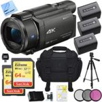 sony fdr ax53b 4k handycam camcorder deluxe bundle includes handycam 55mm 150x150 - BM Premium 2 BP-727 Batteries and Dual Charger for Canon Vixia HF R70, HF R72, HFR 700, HFM50, HFM52, HFM500, HFR30, HFR32, HFR300, HFR40, HFR42, HFR400, HFR50, HFR52, HFR500, HFR60, HFR62, HFR600