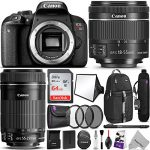 canon eos rebel t7i dslr camera with 18 55mm and 55 250mm lenses kit 150x150 - Canon EOS Rebel T7i DSLR Camera with 18-55mm Lens w/ Advanced Photo and Travel Bundle