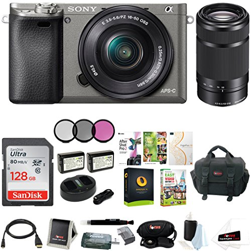 sony alpha a6000 camera wlens accessory and software bundle dual lens - Allshopathome-Best Price Comparison Website,Compare Prices & Save