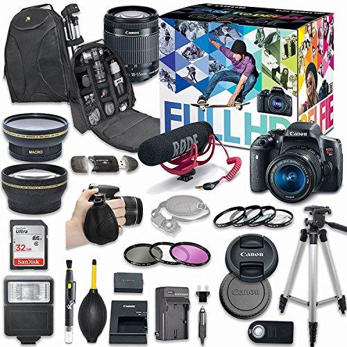canon eos rebel t6i dslr camera deluxe video creator kit with canon ef s - Allshopathome-Best Price Comparison Website,Compare Prices & Save