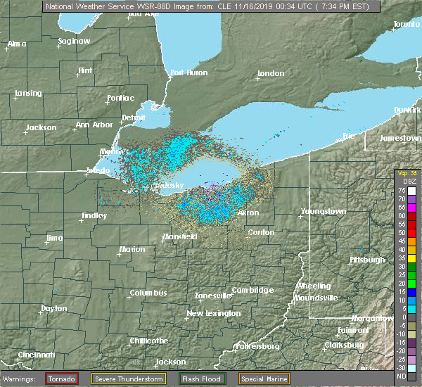 Current Weather Radar Image Cleveland