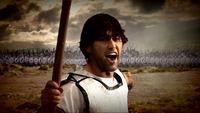 Kimon (Son of Athenian General Miltiades) at the Battle of Marathon.
