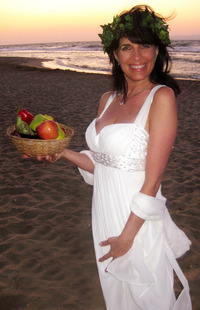 "Cynthia Daddona as the Greek Goddess ""AphFoodite"" in Crete - Under the Grecian Sun"