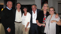 Christos Lolas, MD (far left) and his wife Claudia Lolas (2nd from right), seen in 2008