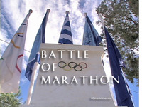 The Battle of Marathon, Greece