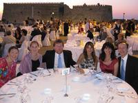 Presidential Dinner alfresco at the Venetian port of Herakleion