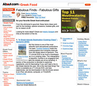 New York Times' About.com Culinary-Travel Review, A Greek Islands Destination Cooking Class</em>