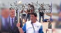 Olympics 2004 Athens (1st of 4 videos) Celebrity Torch Relay in LA