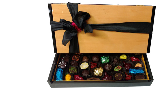Elegant wooden 36 piece box