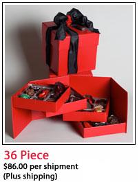 Elegant wooden 36 chocolate piece box