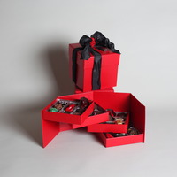36 piece red cube box