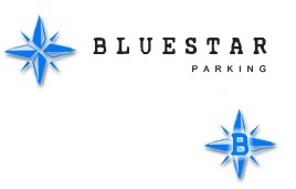 Blue Star Parking Logo - Side Column