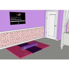 Nastia 3' Purple Practice Beam and 4'x6' Mat