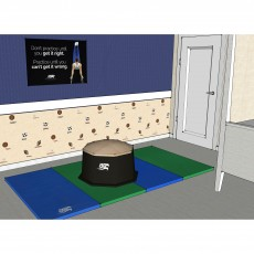 "Aura Training Pod and 4'x8'x1.5"" Tumbling Mat Bundle"