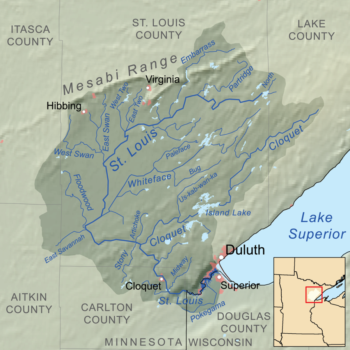 Saint Louis River drainage basin | Wikimedia