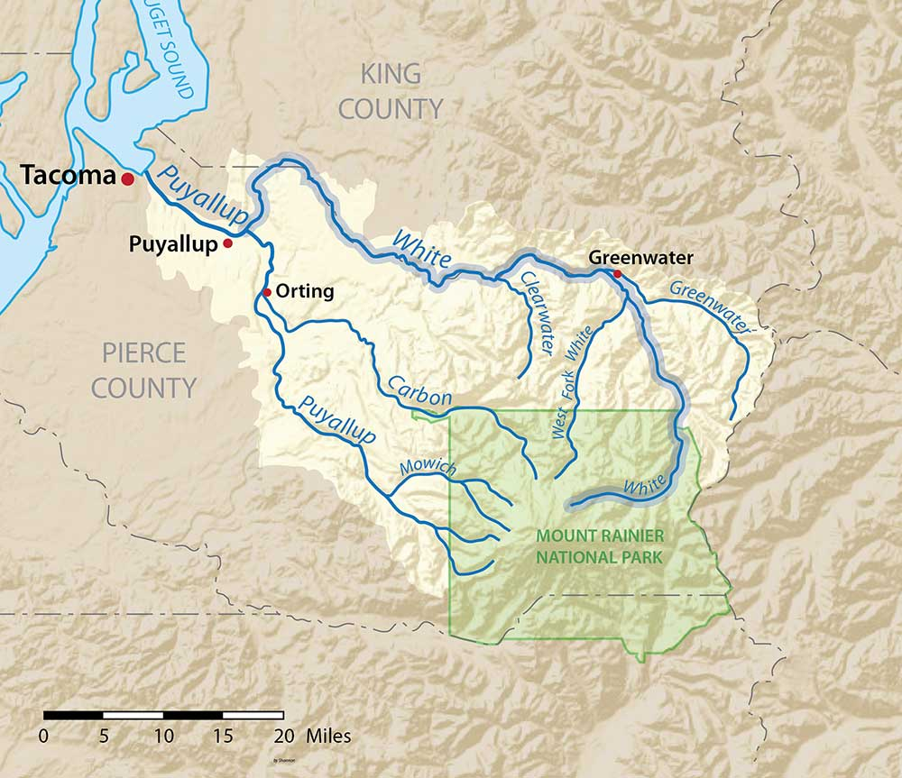 White River, Washington, in the Puyallup River watershed | Wikimedia Commons