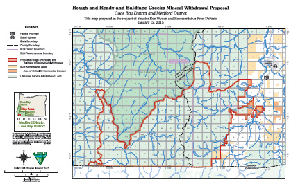 Map of Rough & Ready and Baldface Creeks