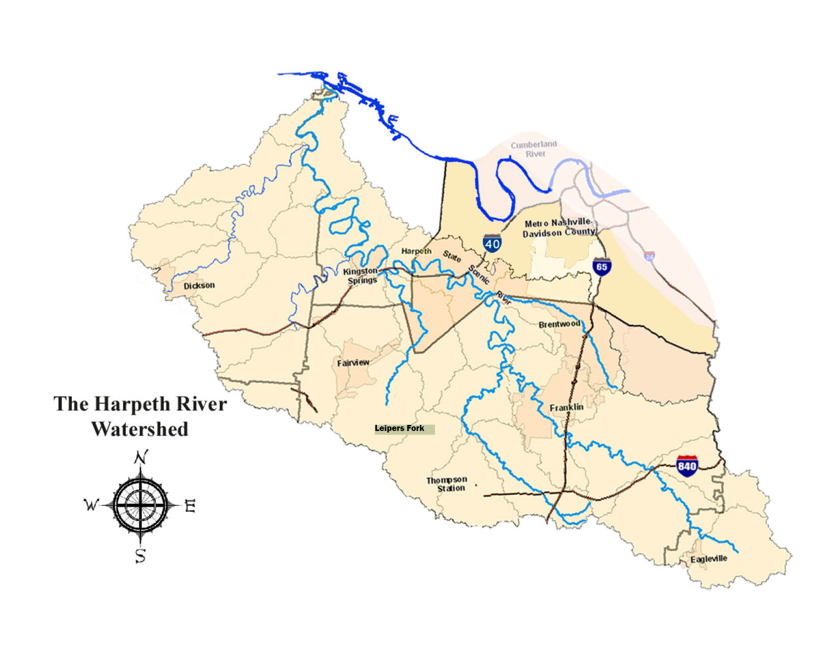 Map of the Harpeth River Watershed | Harpeth River Watershed Association