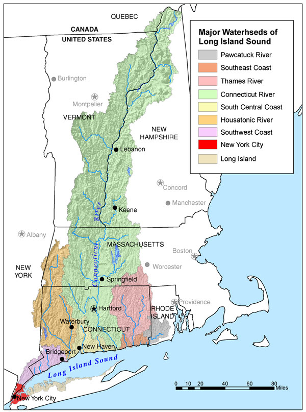 Connecticut River American Rivers - Us drainage basins map