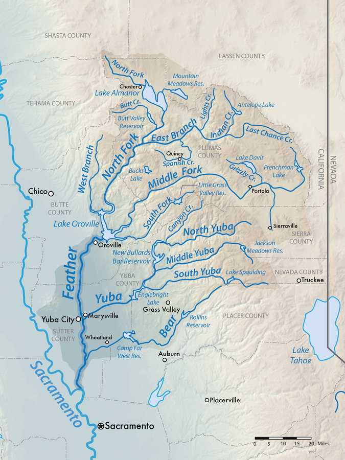 Feather River American Rivers - Map of california rivers