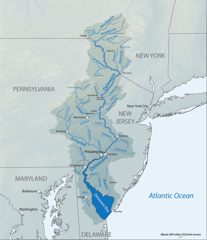 Delaware River Watershed Map Wikimedia Commons