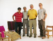 Junto a Arturo, Oscar y Daniel, Foto Tania Vázquez