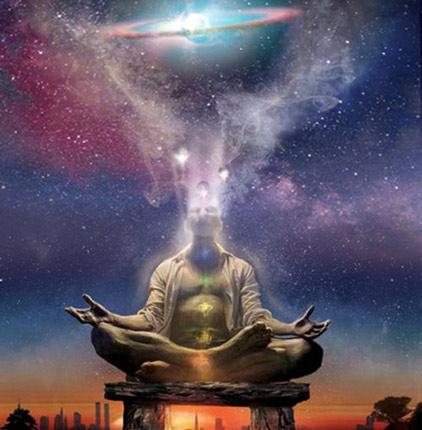 Meditation-ManMergingWithTheUniverse