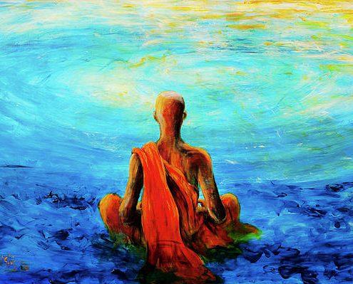 Meditation-MonkPaintingBlue