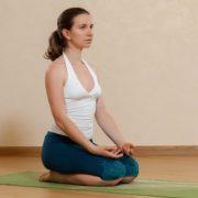 yoga pose at home