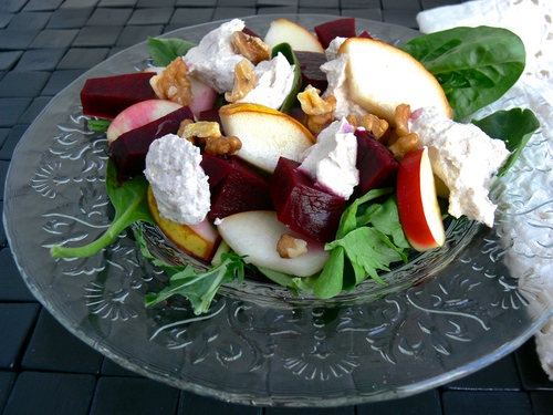Beet & Walnut Cheese Salad