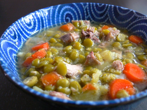 Pea and Poultry Soup
