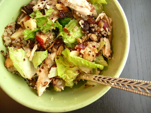 Chicken Apple Quinoa with Toasted Almonds and Coconut