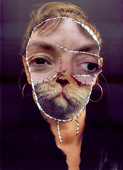 Grima - mit Katze I (The Vero Group Collection, Houston, Texas ... Human Animal Mutations