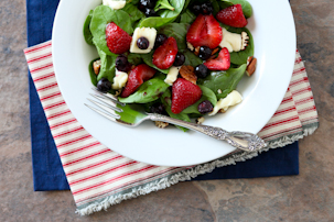 Roasted Berry and Brie Salad