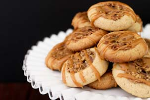 Pecan Pie Thumbprint Cookies