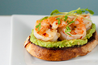 Let's Do Lunch: Garlicky Shrimp Avocado Sandwiches