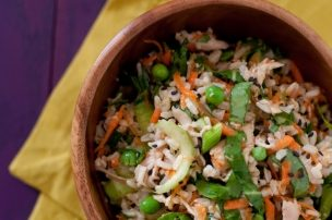 Let's Do Lunch: Bok Choy Brown Rice Salad with Orange Sesame Dressing