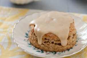 Banana Scones with Browned Butter Glaze