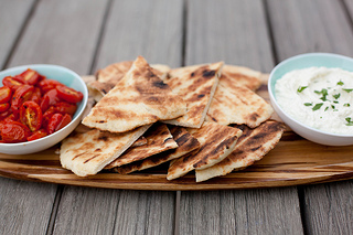 Grilled Garlic Flatbread